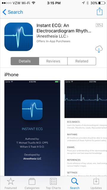 Instant ECG App - Version 3.0